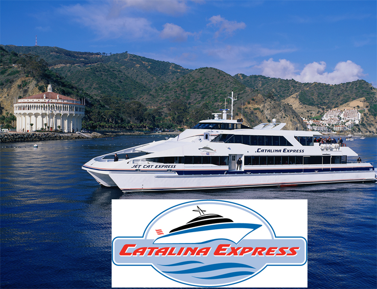 Catalina Island Ferry Discount Tickets The two ferry discounts below are for high-speed ferries (catamarans), making the trip easy and fun. The Catalina Express promises a smooth, comfortable crossing with well-appointed interiors, sun decks, full bars, refreshments, and snacks.