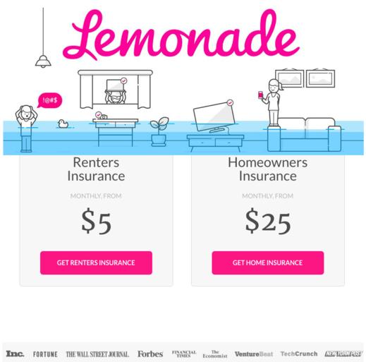 Lemonade Renters & Homeowners Insurance - Free $20 Amazon Gift Card